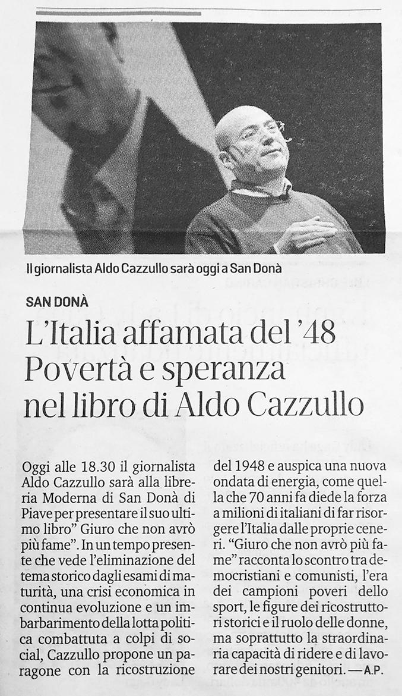 L'Italia affamata del'48. Povertà e speranza nel libro di Aldo Cazzullo