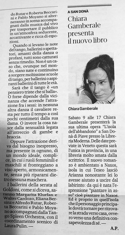 Chiara Gamberale presenta il nuovo libro