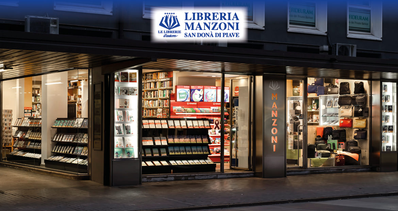 Libreria Manzoni a San Donà di Piave - Vista esterna notturna